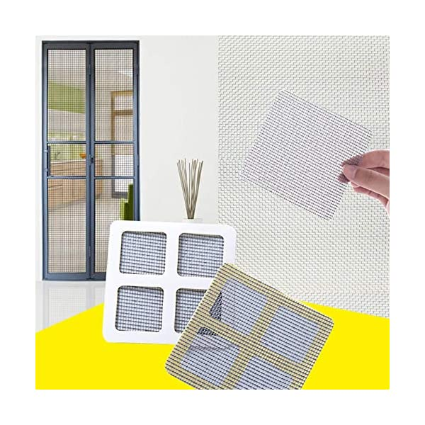 24 Pz/set Anti-Insetto Fly Door Window Anti Zanzariera Rete Mesh Repair Tape Patch Adesivi adesivi per Home Office-Nero… 2 spesavip