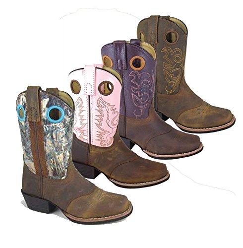 Seggiolino Da Montagna Fumoso Western Sedona Sella Sq Toe Boots Marrone Angoscia / Vero Legno Camo Marrone