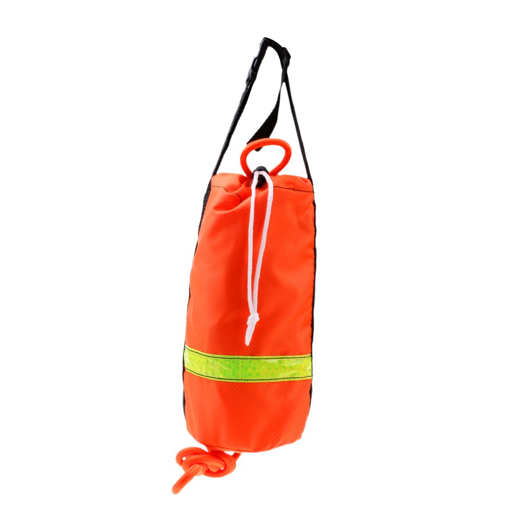 16m 8mm Strong Nylon Buoyant Safety Rescue Line Throw Bag Raft Kayaking Swim
