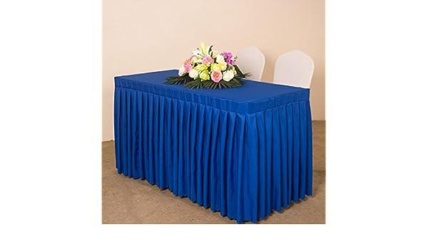 Amazon.com: eDealMax Tela Retangular en Forma de Inicio Reunión mobiliario cubierta Mantel 240 x 60 x 75 cm Azul Oscuro: Home & Kitchen
