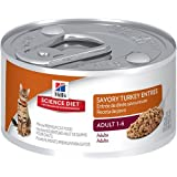 Hill's Science Diet Adult Savory Turkey Entree Minced Cat Food, 3-Ounce Can, 24-Pack