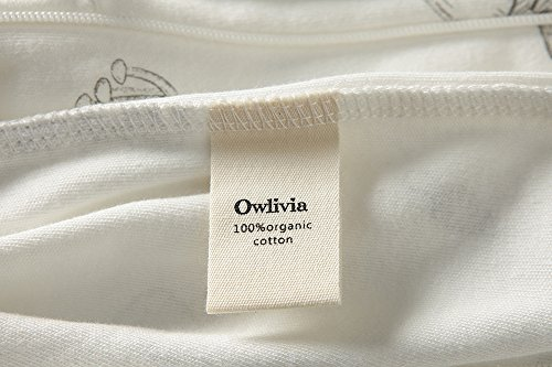 Owlivia Organic Cotton Baby Boy Girl 2 Pack Zip Front Sleep 'N Play, Footed Sleeper, Long Sleeve (Size 0-18 Month)(12-18Months,Star+Mushroom) by Owlivia (Image #5)