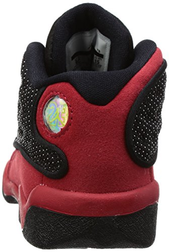 Jordan Retro 13 Unisex-Baby Fashion-Sneaker 414581 Schwarz / True Rot-Weiß / Marineblau