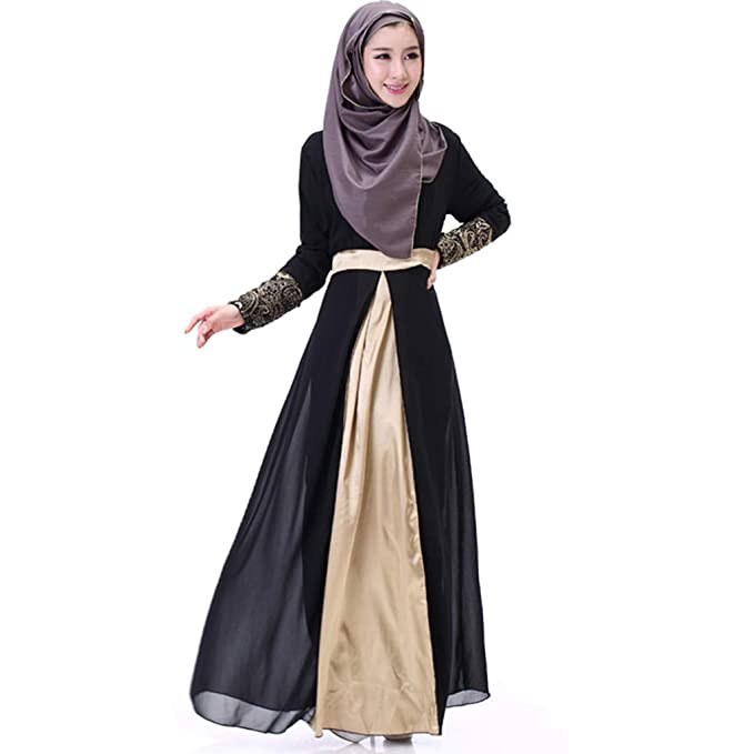 11ca0005 Amazon.com: Dainzuy Women Muslim Dress Dubai Kaftan Long Sleeve Maxi Dresses  Dubai Patchwork Gown Islam Abaya Muslim Clothing: Clothing