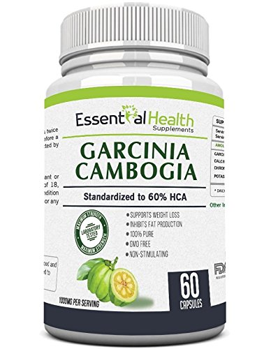 1 Top Rated Pure Garcinia Cambogia Extract With 60 Hca Extra Strength Essential Health Best