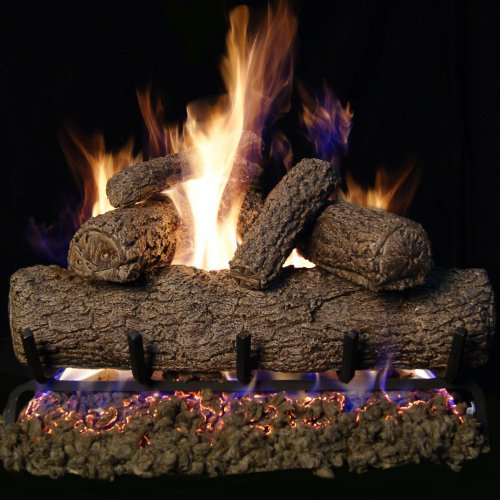Peterson Real Fyre 24-inch Southern Oak Gas Log Set With Vented Natural Gas G4 Burner - Match Light