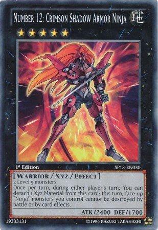 Yu-Gi-Oh! - Number 12: Crimson Shadow Armor Ninja (SP13-EN030) - Star Pack 2013 - 1st Edition - Common