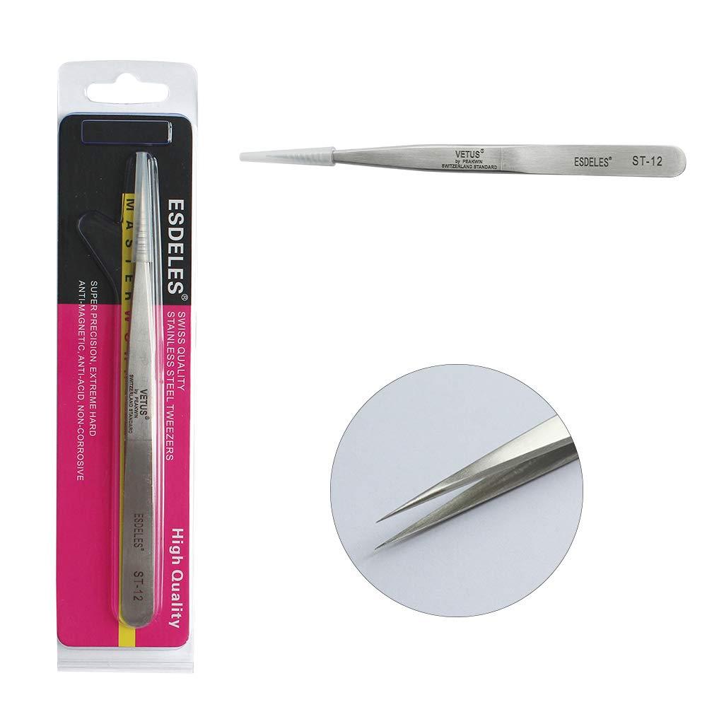 Anti-Acid Tweezer Used Aven OO-SA Stainless Antimagnetic Straight Tip