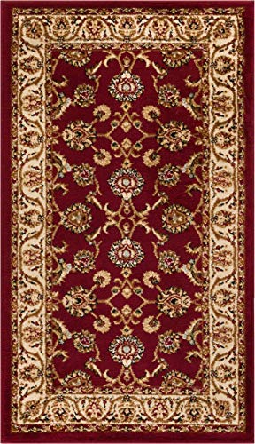 Noble Sarouk Red Persian Floral Oriental Formal Traditional Area Rug 2x4 ( 2'3