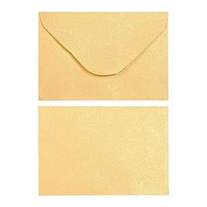 Juvale Lot De 100 Mini Enveloppes Dore Carte Cadeau