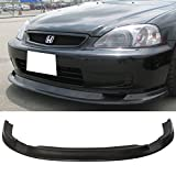 99 civic front lip - Front Bumper Lip Fits 1999-2000 Honda Civic | FM Style Black PU Front Lip Finisher Under Chin Spoiler Air Dam Chin Diffuser Add On by IKON MOTORSPORTS