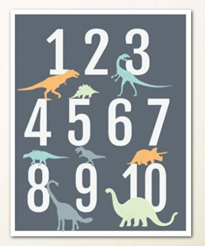 Amazon.com: Dinosaur Alphabet Wall Art Print 11x14, Nursery Decor ...