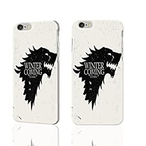 """Paradise Life Design Game of Thrones Winter is Coming Stark Vintage Art Snap on Laser Technology 3D Rough iphone 6 -4.7 inches Case Skin, fashion design image custom iPhone 6 - 4.7 inches , durable iphone 6 hard 3D case cover for iphone 6 (4.7""""), Case New Design By Codystore by heywan"""