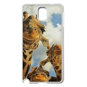 JFLIFE Giraffe Phone Case for samsung galaxy note3 White Shell Phone [Pattern-2]