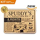 Dog Flea Treatment Collar - Spuddy's Premium Flea and Tick Prevention Collar for Dogs - 6-8 Month Treatment Prevents & Removes Fleas, Ticks, Lice And Mosquitos - 100% Assured Combo Kit