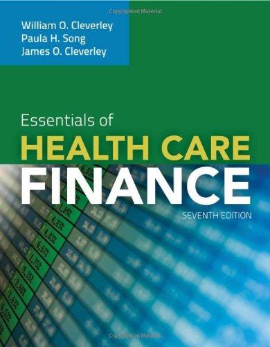 Essentials Of Health Care Finance (Essentials Of Health Services)