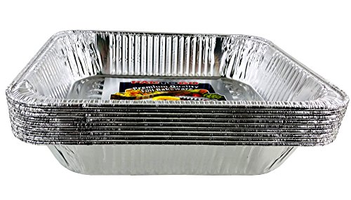 Aluminum Foil Pans - Half-Size Deep Disposable Steam Table Pans for Baking, Roasting, Broiling, Cooking, 12.75 x 10.25 x 2.56 - Heavy Duty Made in USA (Pack of 30) by PACTOGO (Image #5)