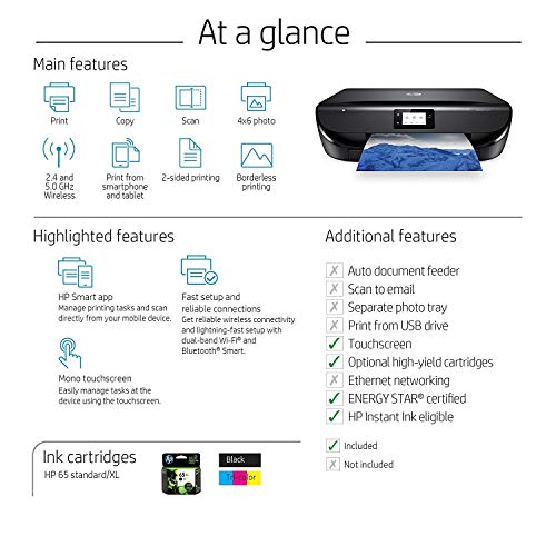 HP Envy 5055 Wireless All-in-One Photo Printer, HP Instant Ink & Amazon Dash Replenishment Ready (M2U85A) (Renewed) by HP (Image #6)