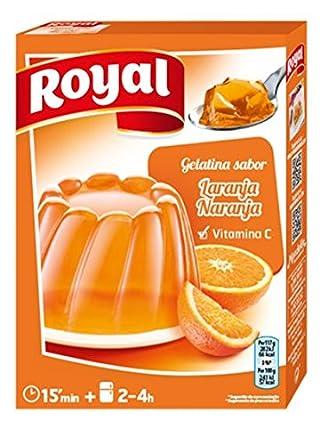 ROYAL gelatina sabor naranja caja 170 gr: Amazon.es: Alimentación y bebidas