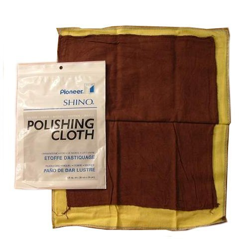 SHINO POLISHING CLOTH 12 X 14 WITH ROUGE