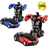 transformers car - Toy Cars, Transformers One-Step, 2-pack (001 Red and Blue)