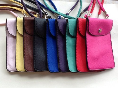 Women PU Leather Quilted Double Zipper Wallet Clutch Case