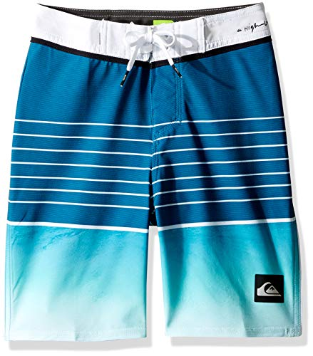 Quiksilver Big Boys' Highline Slab Youth 17 Boardshort Swim Trunk, Turquoise, 30/16