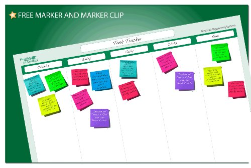 5 Column Task Planner 19 in x 24 in - Laminated and Erasable