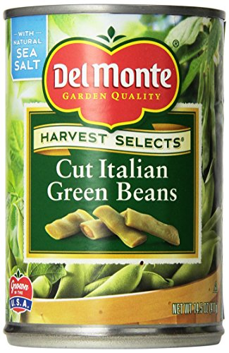 Del Monte Cut Italian Green Beans 14.5oz Can (Pack of 6) - Italian Green Beans
