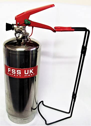 FSS UK PLUS CHROM 2kg ABC Dry Powder Feuerlöscher. CE. Ideal für Haushalte Küche Arbeitsplatz Büros Autos Vans Boote Lager Garagen Hotels Restaurants