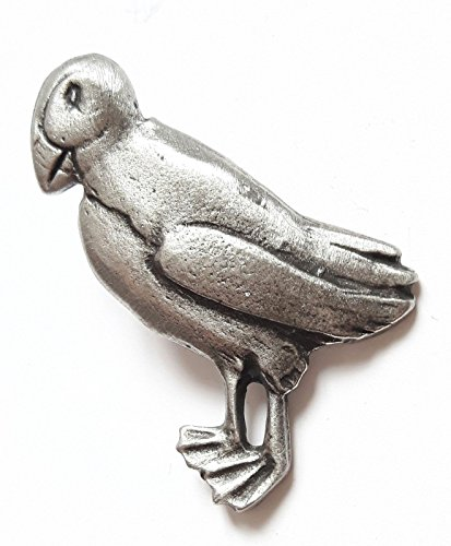 Macareux d'Oiseaux fabriquéà la main en étain anglais Pin's (épinglette Badge + 59MM Badge + Sac cadeau