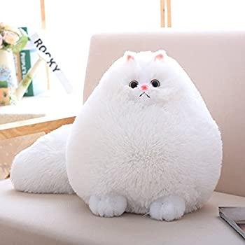 Winsterch Kids Stuffed Cats Plush Animal Toys Gift Animal Baby Doll,White Cat Plush,11.8''
