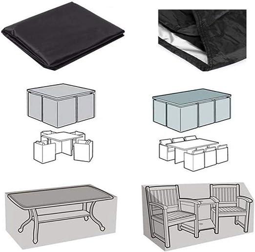 KFYOUXIN Muebles de Patio Cubre Mobiliario de jardín Mobiliario de jardín Fundas Redondas para Muebles de Patio Impermeables: Amazon.es: Hogar