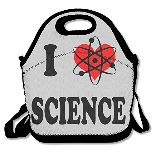 Xiisxin I Love SCIENCE Lunch Tote Bag - Large & Thick Insulated Tote - Suit For Men Women Kids