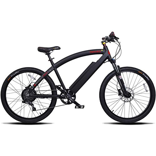Cheap ProdecoTech Phantom X R V5 36V600W 8 Speed Electric Bicycle 14Ah Samsung Li Ion, Matte Black, 18″/One Size