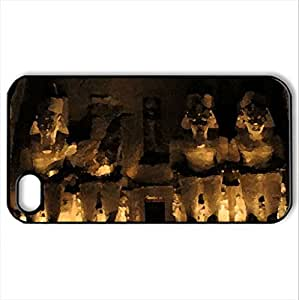 Abu Simbel temple at night - Case Cover for iPhone 4 and 4s (Amusement Parks Series, Watercolor style, Black)