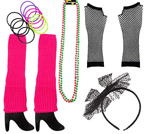 80s Costume Accessories for Women. The Perfect 80's Costume Set to Make You The Hit of The Party