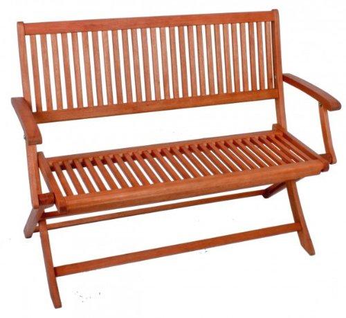 Gartenbank Klappbank 2-Sitzer Eukalyptus FSC-Holz, geölt