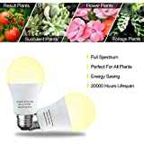 3 Pack A19 Full Spectrum LED Grow Light Bulb Indoor