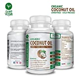Cheap Organic Coconut Oil Capsules 2000mg by Going Vegan – Cold Pressed & Non-GMO, Coconut Oil Pills for Weight Loss, Extra Hair Growth and Healthy Skin – 120 Softgels – Source Unrefined Pure Coconut Oil