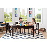 Babies R US Next Steps 42 inch Play Table with Storage and 4 Chairs Set - Black/Espresso