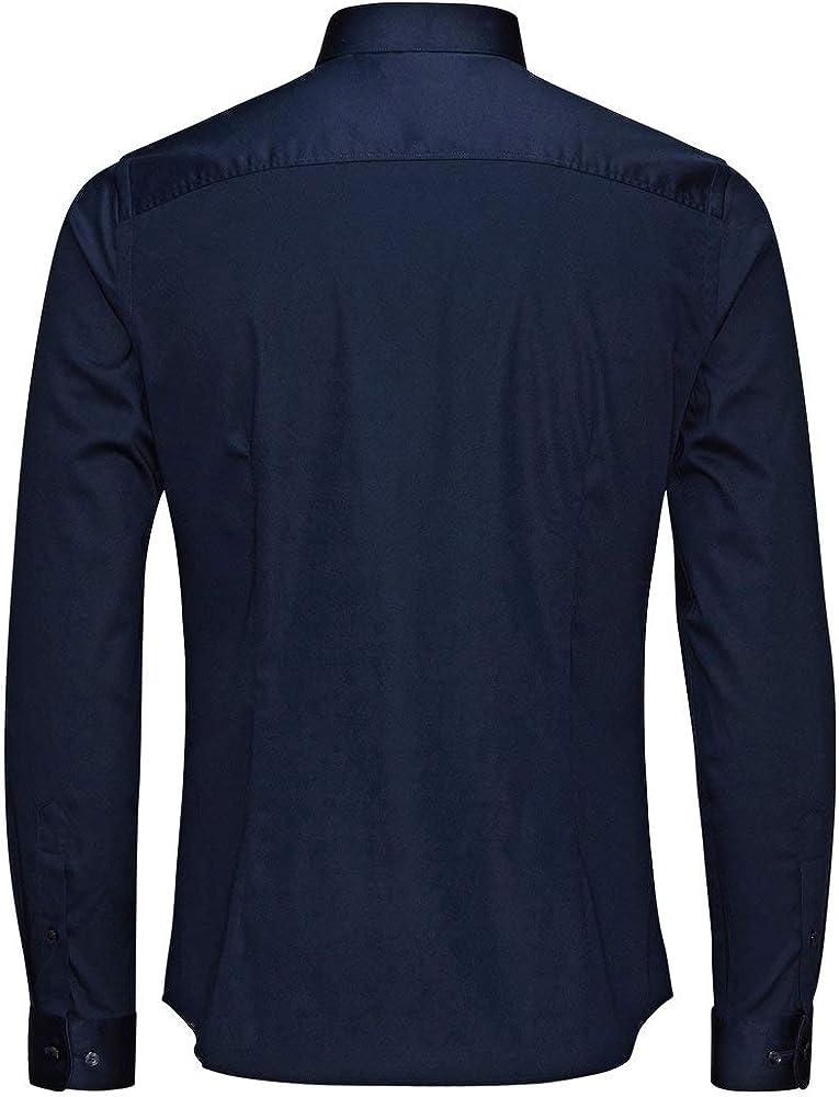 Jack & Jones Jjprparma Shirt L/s Noos Camisa, Blau (Navy Blazer/Super Slim), S para Hombre: Amazon.es: Ropa y accesorios