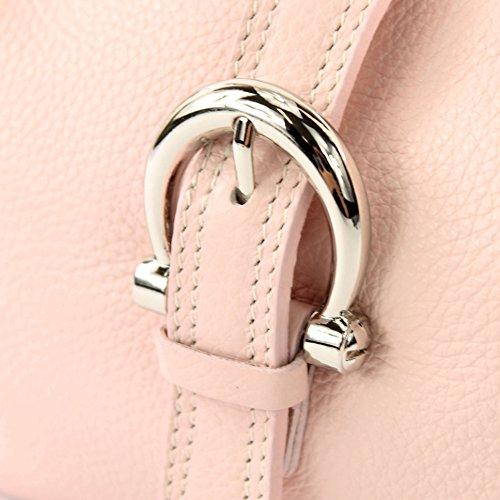 Tracolla Italiana Rosa Borsa Pelle In Vera A Messenger T05 75wPv