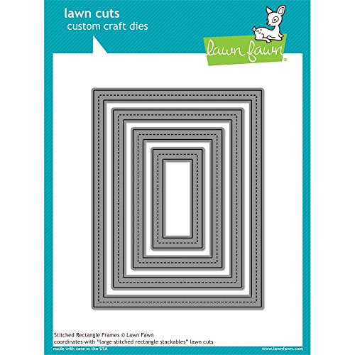 Lawn Cuts Custom Craft Die-stitched Rectangle Frames