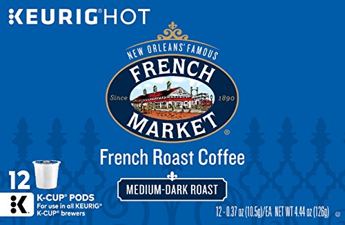 French Market - French Market Coffee Single Serve K-Cups, French Roast, 12 Count (Pack of 6)