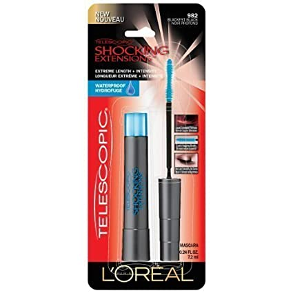 1e440369326 Buy L'Oreal Paris Telescopic Shocking Extensions Waterproof Mascara,  Blackest Black, 0.24 Fluid Ounce (Pack of 5) Online at Low Prices in India  - Amazon.in