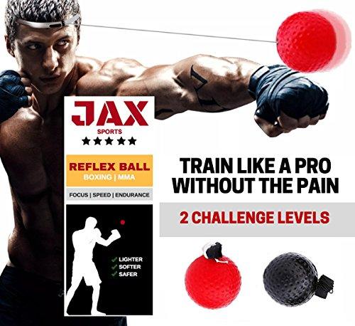 JAX Sports Boxing Reflex Ball, 2 Difficulty Level