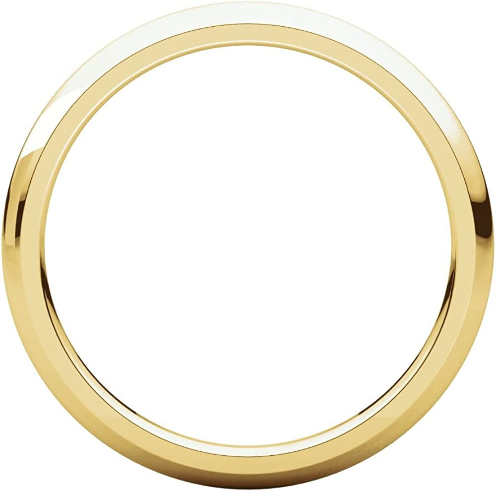 Security Jewelers 14k Yellow Gold 2mm Comfort Fit Band 14kt Yellow Gold Ring Size 11