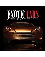 Exotic Cars Calendar 2018: 16 Month Calendar