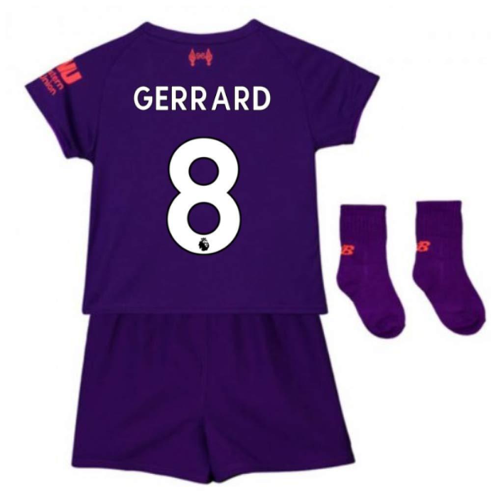 UKSoccershop 2018-2019 Liverpool Away Baby Kit (Steven Gerrard 8)